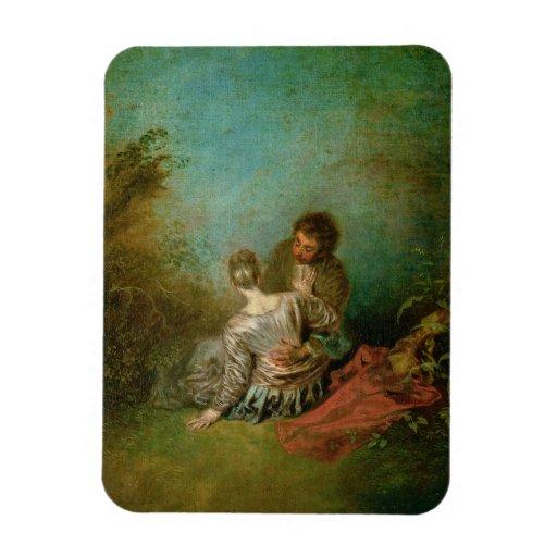 The Faux Pas, c.1717 (oil on canvas) Magnet