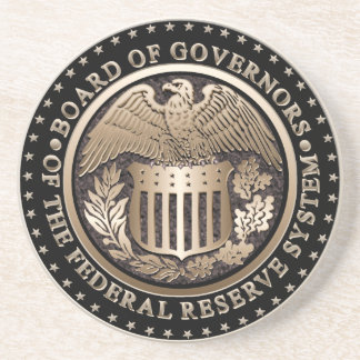 The Federal Reserve Drink Coasters