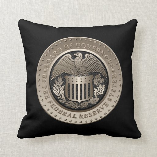 The Federal Reserve Throw Pillows