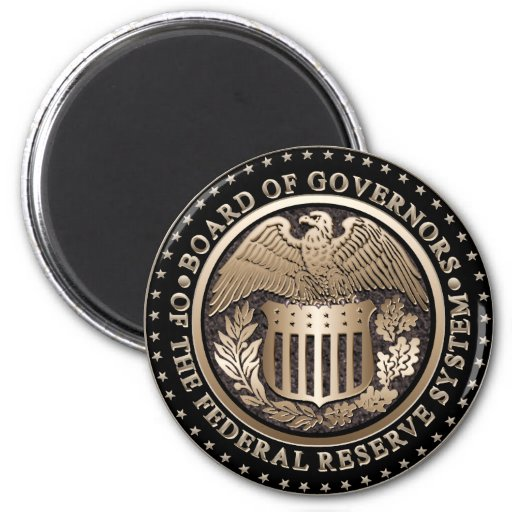 The Federal Reserve Refrigerator Magnets
