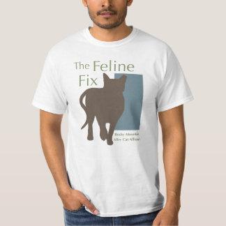 The Feline Fix Logo t-shirt