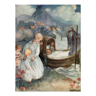 The Ferry Boat by Anne Anderson Poster