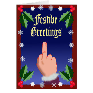 The Festive Finger Greeting Card