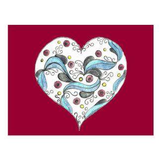 The Festooned Heart Postcard