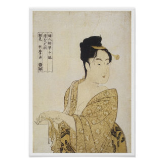The FIckle Type, Utamaro, 1792-93 Poster