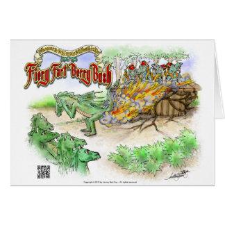 "The Fiery Fart Berry Bush Greeting Card 7""x5"""