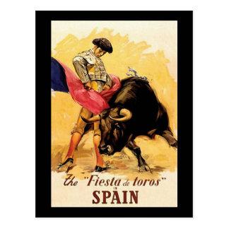 The Fiesta De Toros In Spain Postcard