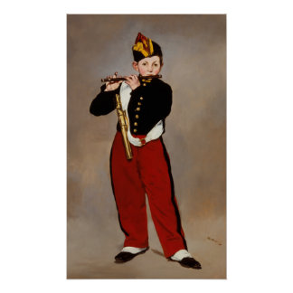 The Fifer (Fife Player) by Manet Poster