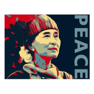 THE FIGHTER - Aung San Suu Kyi | Custom Postcard