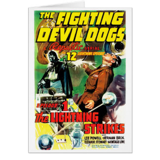 The Fighting Devil Dogs Greeting Card