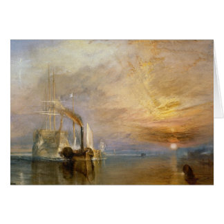 """The """"Fighting Temeraire"""" Tugged Greeting Card"""
