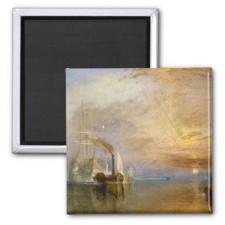 """The """"Fighting Temeraire"""" Tugged Square Magnet"""