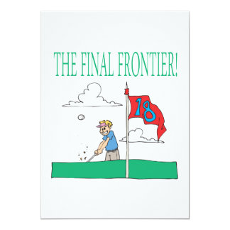 The Final Frontier 13 Cm X 18 Cm Invitation Card
