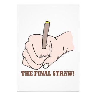 The Final Straw Invites