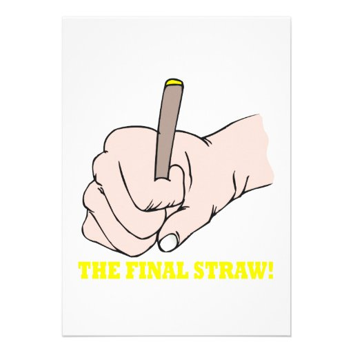 The Final Straw Personalized Announcements
