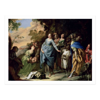 The Finding of Moses, c.1650-56 (oil on canvas) Postcard