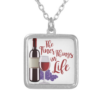The Finer Things Silver Plated Necklace