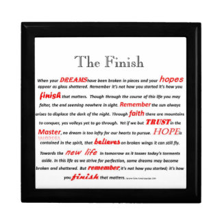 The Finish Inspirational Poem Large Gift Box