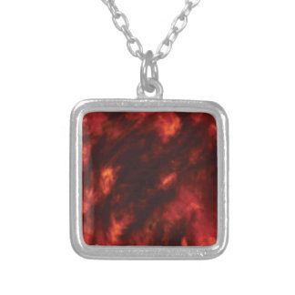 the fire abyss silver plated necklace