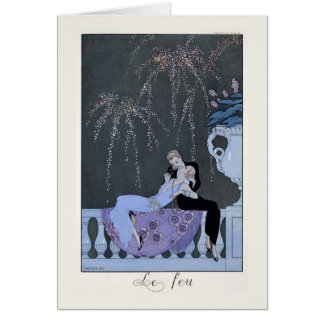 The Fire, illustration for 'Fetes Galantes' by Pau Card