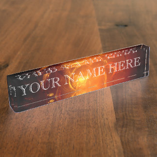 The Fire In Your Eyes Fractal Name Plate