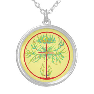 The Fire of His Passion Silver Plated Necklace