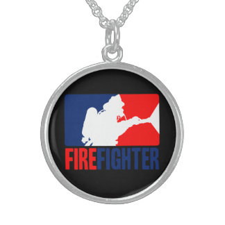 The Firefighter Action Sterling Silver Necklace