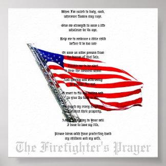 The Firefighter's Prayer Poster