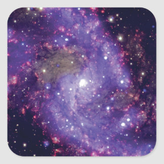 The Fireworks Galaxy Outer Space Photo Square Sticker