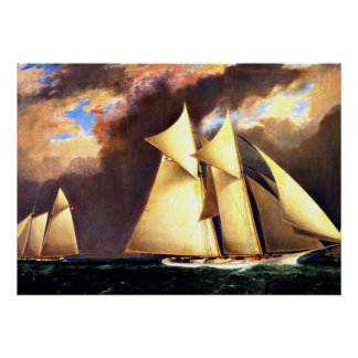 The First America's Cup Race, 1870 Poster