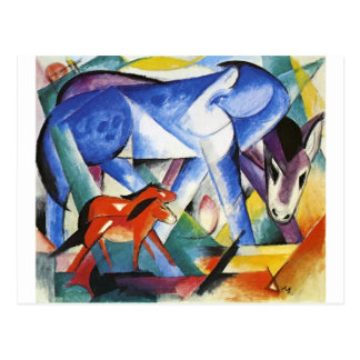 The First Animals by Franz Marc Postcard