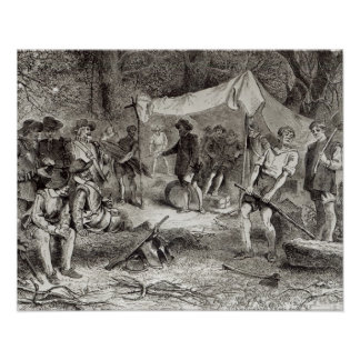 The First Day at Jamestown Poster
