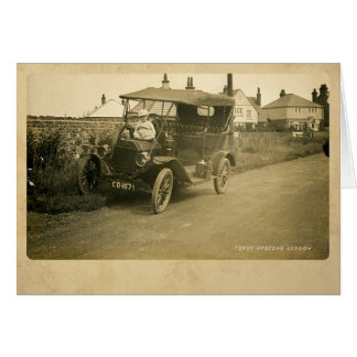 The First Driving Lesson Greeting Card
