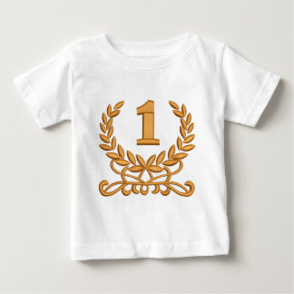 the first - imitation of machine embroidery baby T-Shirt