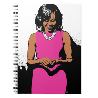 The First Lady by Jesse Raudales Spiral Notebook