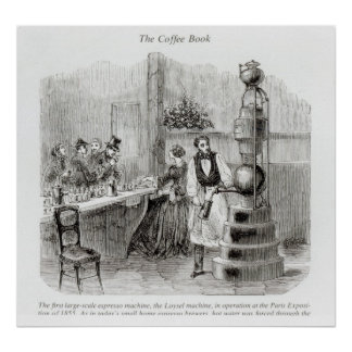 The first large-scale espresso machine poster