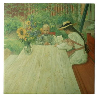 The First Lesson, 1903 Tile