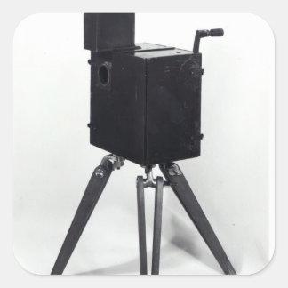 The first Lumiere cinematographe Square Sticker
