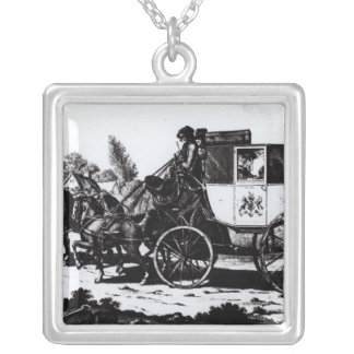 The First Mail Coach, 1784 Silver Plated Necklace
