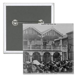 The first Phoenix Park Races, 1903 15 Cm Square Badge
