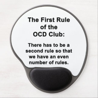 The First Rule of the OCD Club Gel Mouse Pad