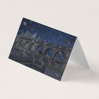 The first snow of winter card