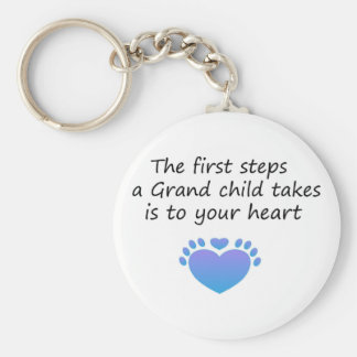 The First Steps Unique Grandchild Key Ring