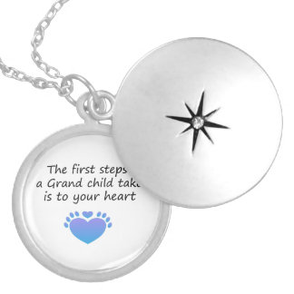The First Steps Unique Grandchild Silver Plated Necklace