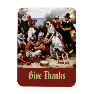 The First Thanksgiving,1621. Fine Art Gift Magnet