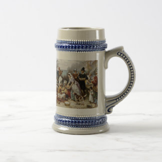 The First Thanksgiving Beer Stein