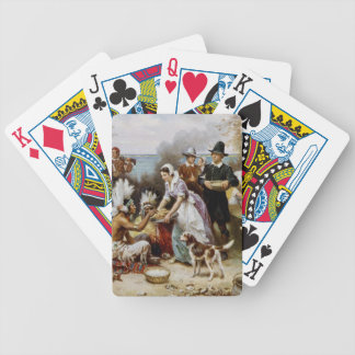 The First Thanksgiving Bicycle Playing Cards