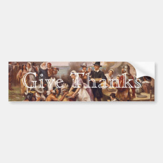 The First Thanksgiving Bumper Sticker