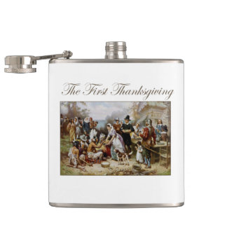 The First Thanksgiving Hip Flask