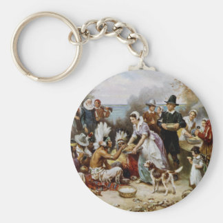 The First Thanksgiving Key Ring